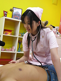 Rio Nakamura - Lovely nurse Rio Nakumara makes it all better for horny cock - Picture 11