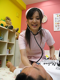 Rio Nakamura - Lovely nurse Rio Nakumara makes it all better for horny cock - Picture 8