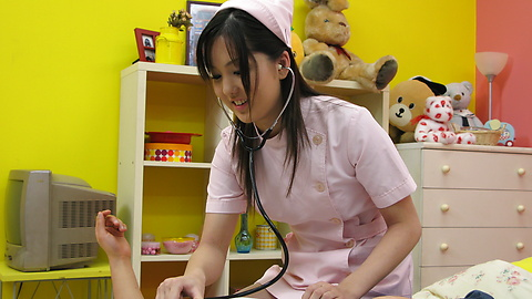 Rio Nakamura - Lovely nurse Rio Nakumara makes it all better for horny cock - Picture 9