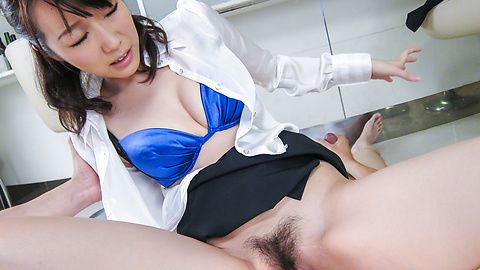 Hitomi Oki - Facial Asian cum shot after hardcore sex with Hitomi Oki - Picture 11