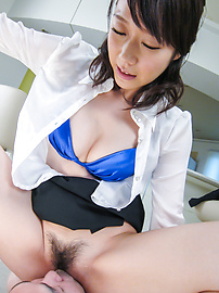 Hitomi Oki - Facial Asian cum shot after hardcore sex with Hitomi Oki - Picture 12