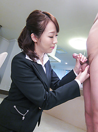 Hitomi Oki - Facial Asian cum shot after hardcore sex with Hitomi Oki - Picture 6