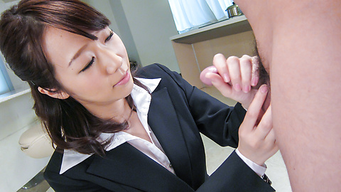 Hitomi Oki - Facial Asian cum shot after hardcore sex with Hitomi Oki - Picture 7