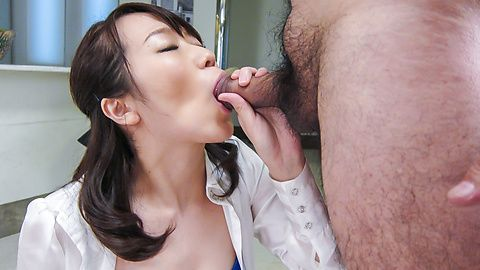 Facial Asian cum shot after hardcore sex with Hitomi Oki