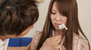 Yui Hatano loves giving asian blowjobs and riding him