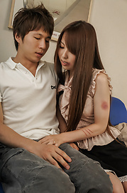 Yui Hatano - Yui Hatano loves giving asian blowjobs and riding him - Picture 3