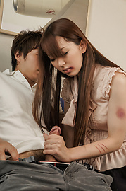 Yui Hatano - Yui Hatano loves giving asian blowjobs and riding him - Picture 4