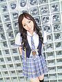 Ayane Okura gives a POV BJ in asian school girl porn Photo 1