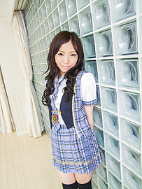 Ayane Okura - Hot asian schoolgirl blow job porn session - Picture 2