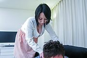 Big breasted av babe Yuuna Hoshisaki rides for a creampie Photo 1
