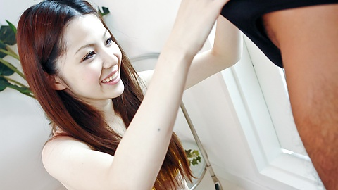 Rika Koizumi - Rika Koizumi Swallows Cum After Riding His Dick - Picture 4