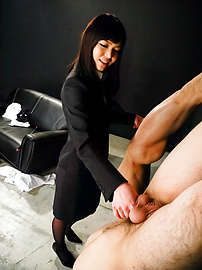 Megumi Shino - Megumi Shino licks dicks and enjoys threesome sex  - Picture 7