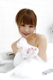 Maomi Nagasawa - Two guys get a japan blow job from teen Maomi Nagasawa - Picture 1