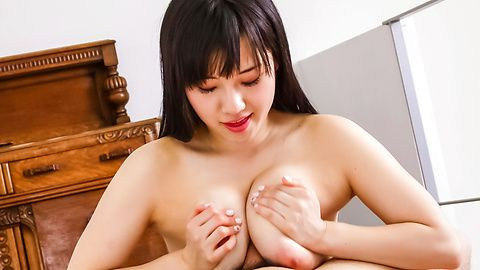 Big breasted Azusa Nagasawa sucks and jerks in asian POV
