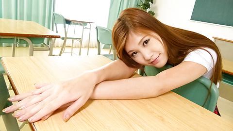 Yura Kasumi - Horny Yura Kasumi's asian schoolgirl blowjob and fucking - Picture 5