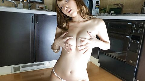 Hikaru Shiina has asian vibrator sex in solo action