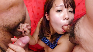 Miyu Kaburagi gives hot Japan blowjob on cam