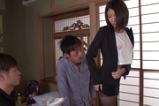 Supreme gangbang sex play for needy Makoto Kasai Photo 10