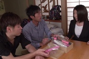 Supreme gangbang sex play for needy Makoto Kasai Photo 2