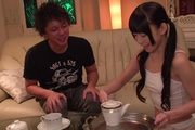 Sexy Marie Konishi gets Asian anal with two men  Photo 1