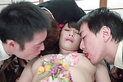 Slim Asian milf gets to suck cocks until exhaustion  Photo 10