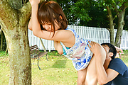 Picked up amateur made to suck cock and fuck in the park  Photo 7