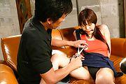 Asian milf,Karen Natsuhara, obeys in nasty porn play Photo 9
