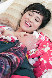 Ema Kato - Wife in kimono fucked after a hot Asian blowjob  - Picture 2