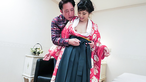 Ema Kato - Wife in kimono fucked after a hot Asian blowjob  - Picture 7