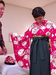 Ema Kato - Wife in kimono fucked after a hot Asian blowjob  - Screenshot 10