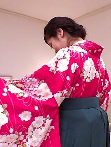 Ema Kato - Wife in kimono fucked after a hot Asian blowjob  - Screenshot 11