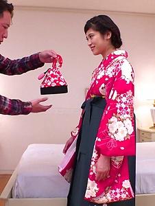 Ema Kato - Wife in kimono fucked after a hot Asian blowjob  - Screenshot 12