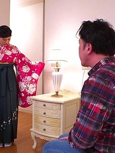 Ema Kato - Wife in kimono fucked after a hot Asian blowjob  - Screenshot 8