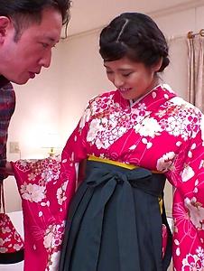 Ema Kato - Wife in kimono fucked after a hot Asian blowjob  - Screenshot 9