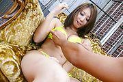 Mariru Amamiya gives a blowjob in her bikini Photo 3