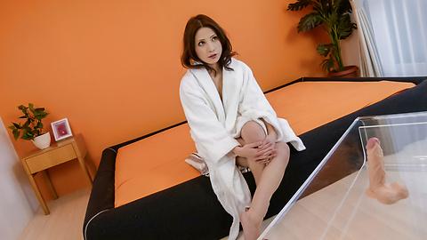 Tsubasa Aihara - Tsubasa Aihara puts dildo in hairy crack - Picture 1