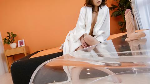 Tsubasa Aihara - Tsubasa Aihara puts dildo in hairy crack - Picture 2
