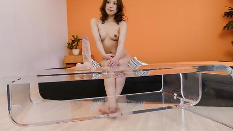 Tsubasa Aihara - Tsubasa Aihara puts dildo in hairy crack - Picture 4