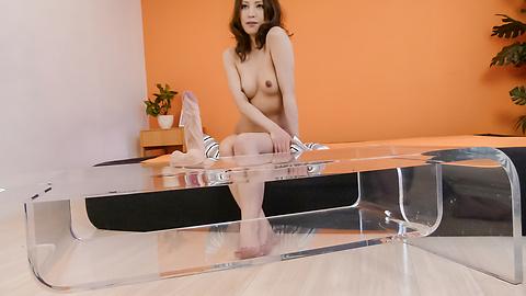 Tsubasa Aihara - Tsubasa Aihara puts dildo in hairy crack - Picture 5