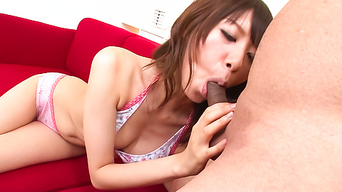 Junna Kogima - Cock pleaser Junna Kogima gives two asian blowjobs - Picture 2