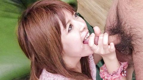 Asian blowjobin threesome with Miyu Aoi