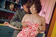 Big tits Ririsu Ayaka gets naughty on a big dong  Photo 4