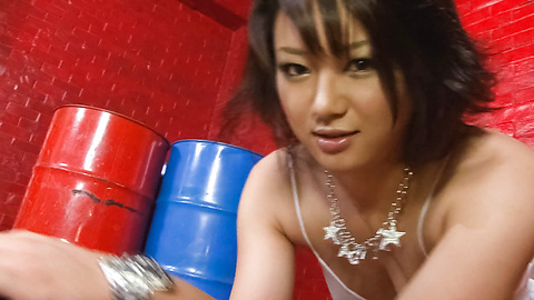 Haruka Uchiyama - Haruka Uchiyama sucks and rubs 3 cocks - Picture 2