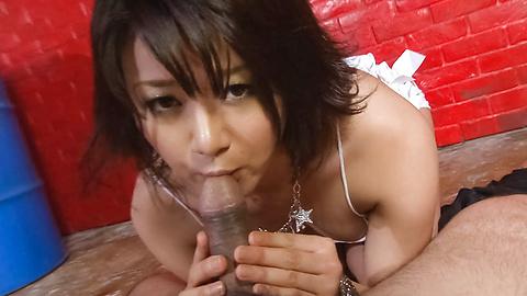 Haruka Uchiyama - Haruka Uchiyama sucks and rubs 3 cocks - Picture 5