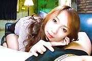 Kazumi Nanase fucked and creampied in stockings in POV Photo 11