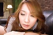 Kazumi Nanase fucked and creampied in stockings in POV Photo 8