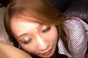 Kazumi Nanase fucked and creampied in stockings in POV Photo 9