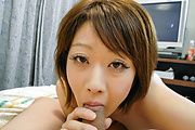 Haruka Sasano rides his cock for cream in japanese POV Photo 6