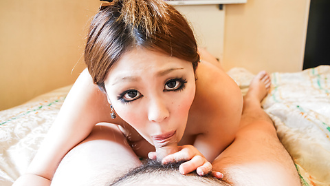 Anna Oguri - Busty Anna eats cum after a japan blowjob - Picture 8