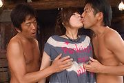 Ririsu Ayaka creampied by two in asian milf porn Photo 3
